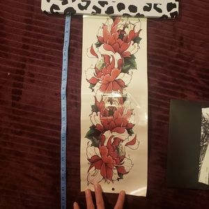 BOGO Tattoo temporary large arm band floral